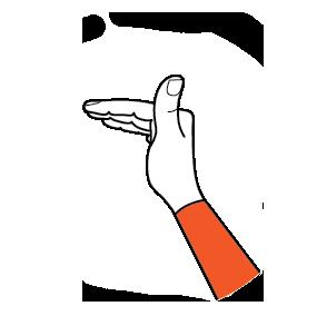 illustration handform för vinkelhand