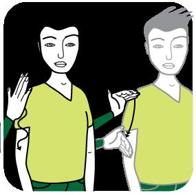 Illustration av signalen för grön