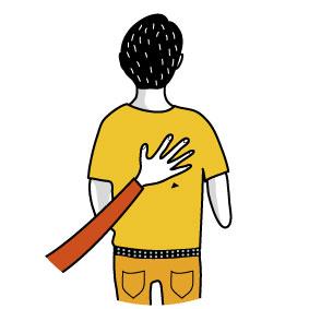 illustration av signalen för stopp