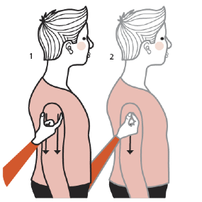 Illustration av signalen för smal person/man