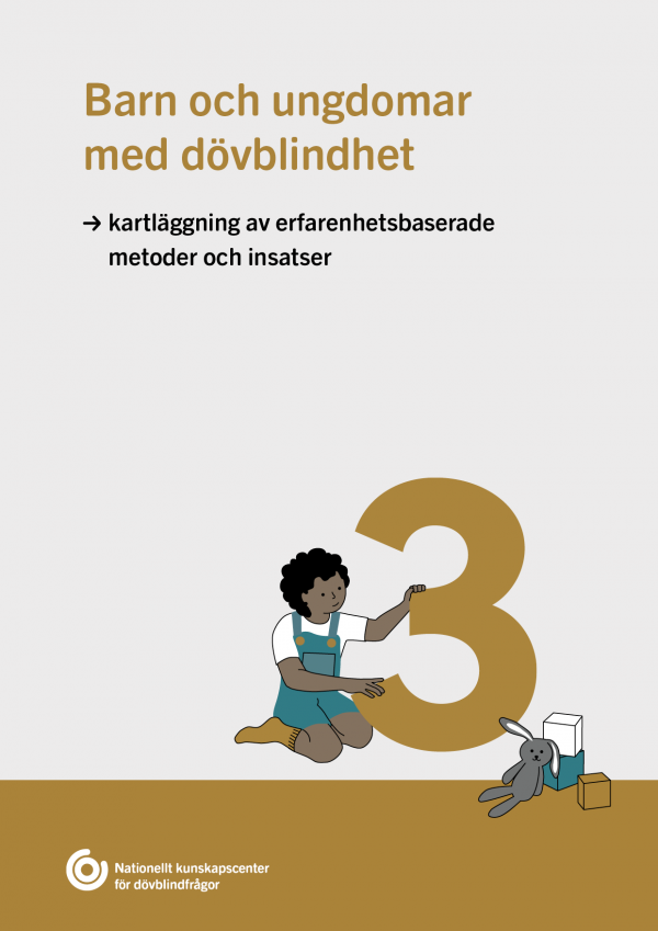 ockravit framsida delrapport 3 om barn och ungdomar med dövblindhet