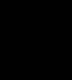svartvitt träd där två händer bär upp bladverket, illustration
